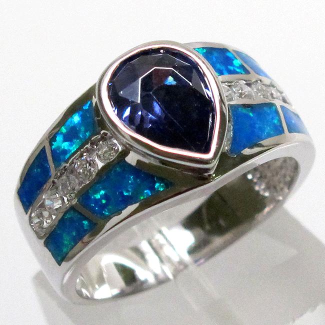 Tanzanite 925 Tanzanite: GLAMOROUS 2 CT TANZANITE BLUE OPAL 925 STERLING SILVER