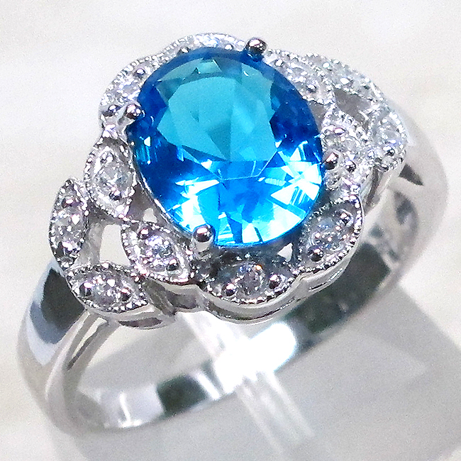 unique 3 ct blue topaz 925 sterling silver ring size 6 ebay