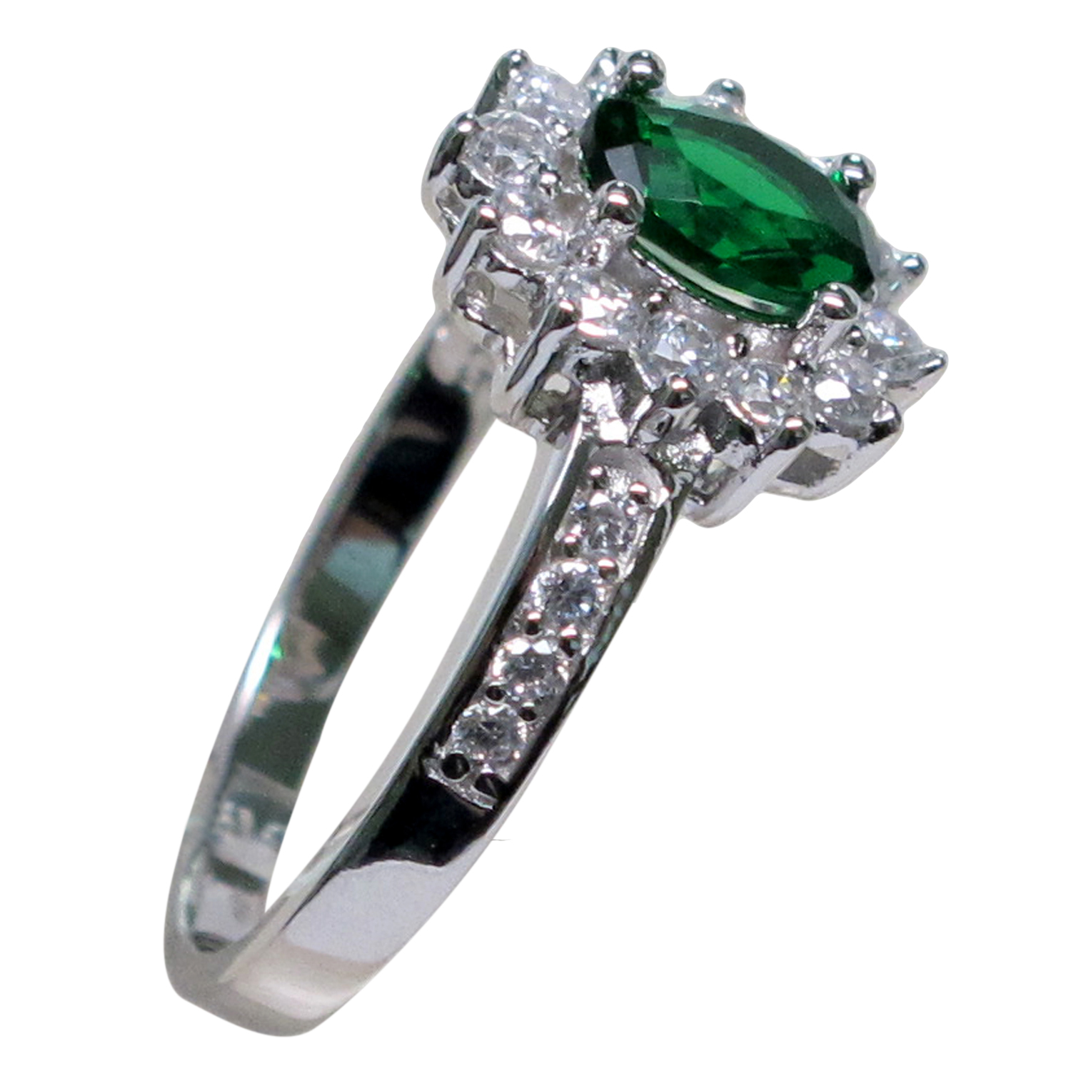 beautiful 1 ct emerald 925 sterling silver ring size 5 10