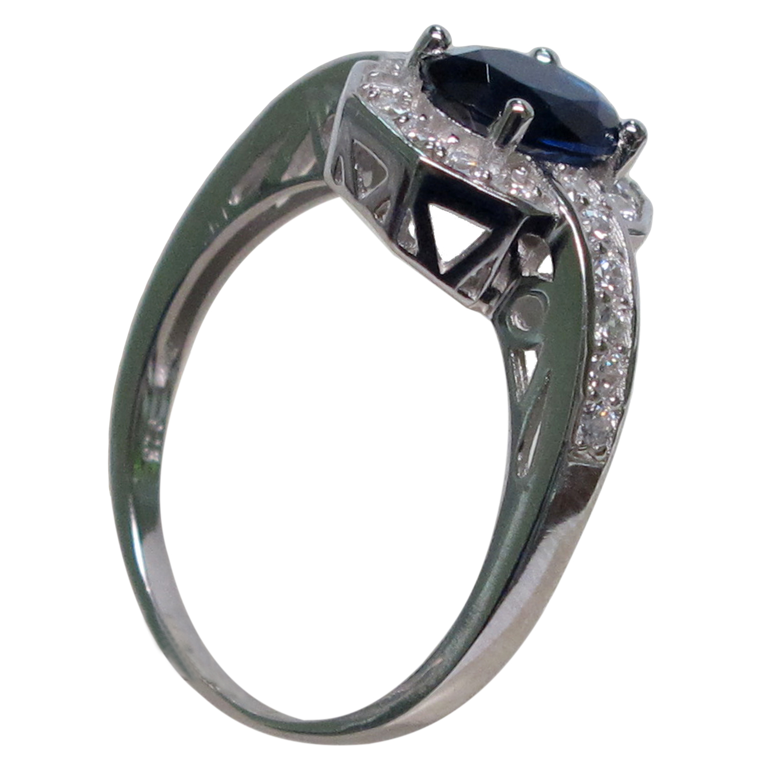 pretty 1 5 ct sapphire 925 sterling silver micro pave ring