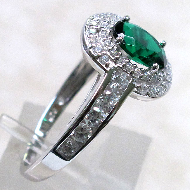 exquisite 1 5 ct emerald 925 sterling silver ring size 8