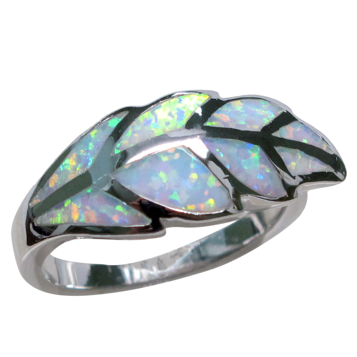 awesome white opal 925 sterling silver ring size 5 10 ebay