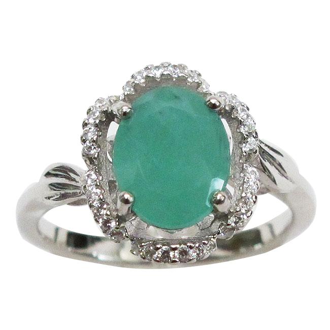 stylish 3 ct genuine emerald 925 sterling silver