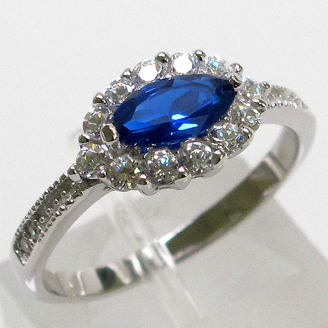 GORGEOUS SAPPHIRE 925 STERLING SILVER RING SIZE 5-10