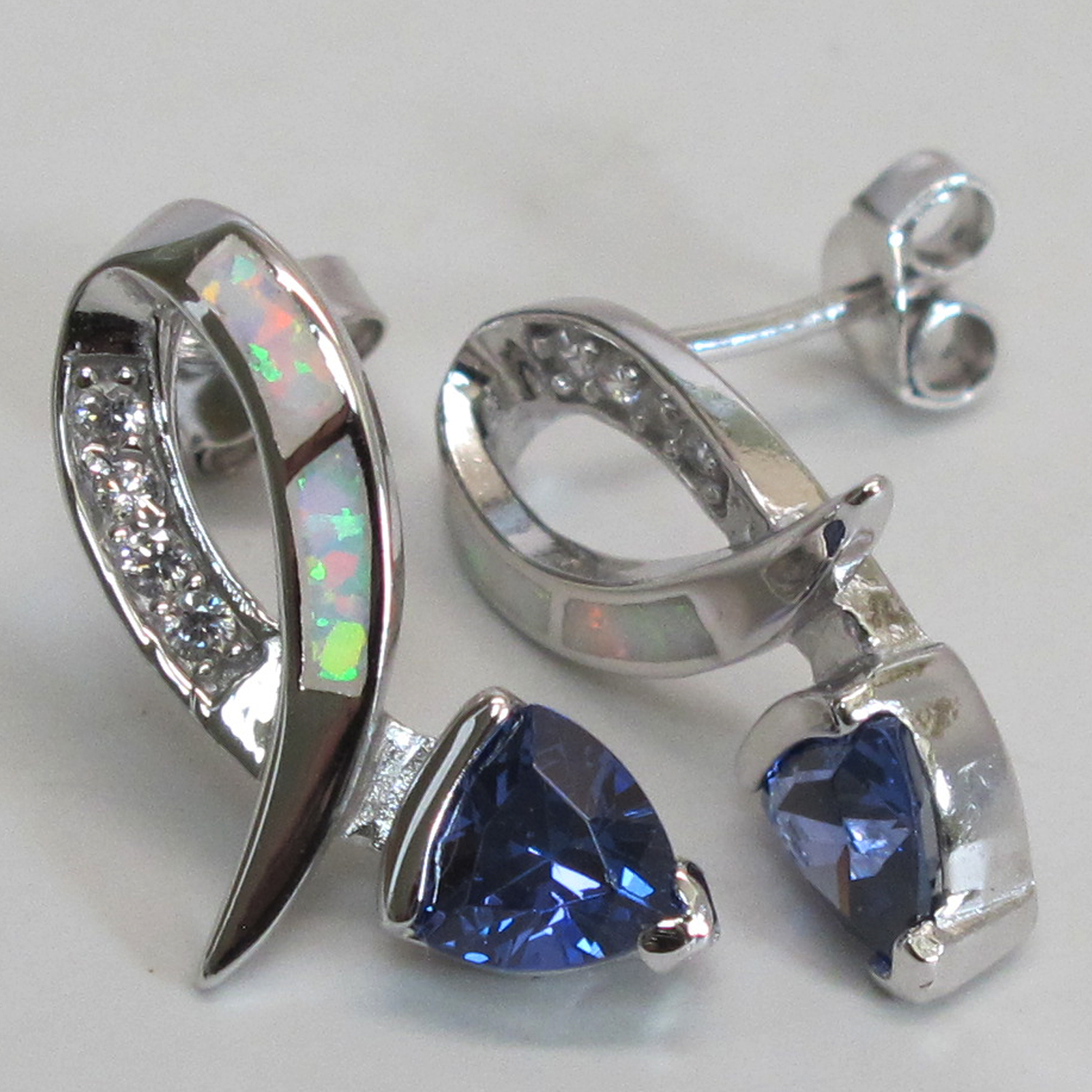 image earrings cut tanzanite trillion crv