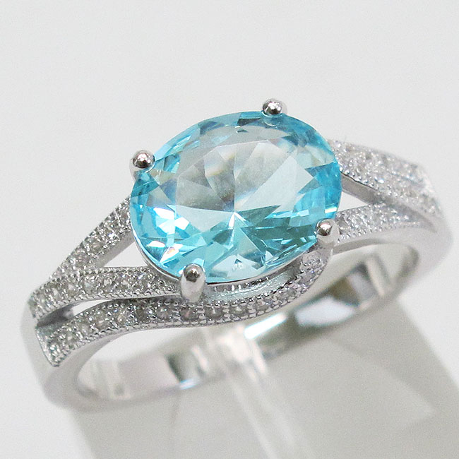 ELEGANT 3 CT EMERALD 925 STERLING SILVER RING SIZE 5-10